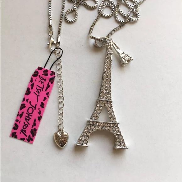 Betsey Johnson Jewelry Betsey Johnson Pave Eiffel Tower Sweater